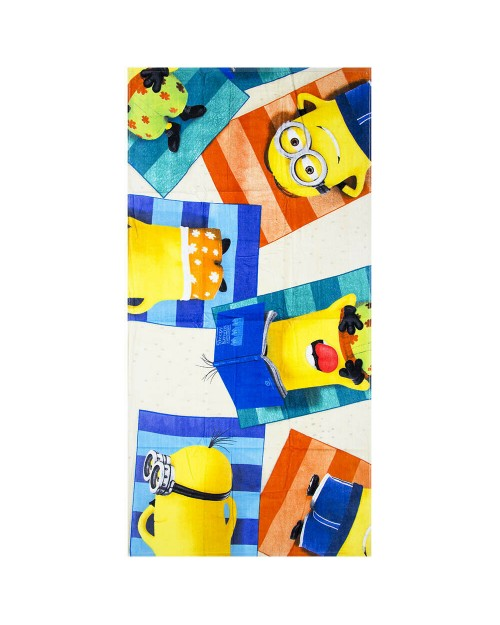 Beach Towel Minions on the beach sunbathing Swimming Holiday cotton