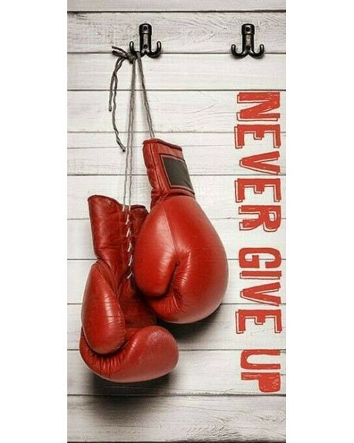 Never Give Up Boxing  Beach Towel Swimming Holiday 70 x 140cm 100% cotton