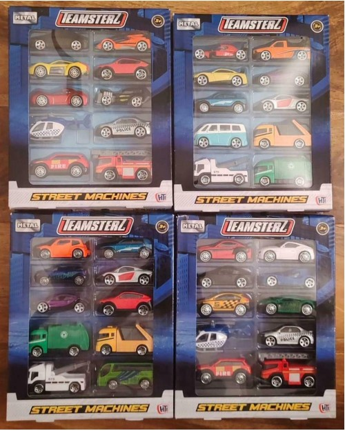 Diecast Cars Teamsterz cars Street Machines 4 x Packs of 12 Cars - 48 in total