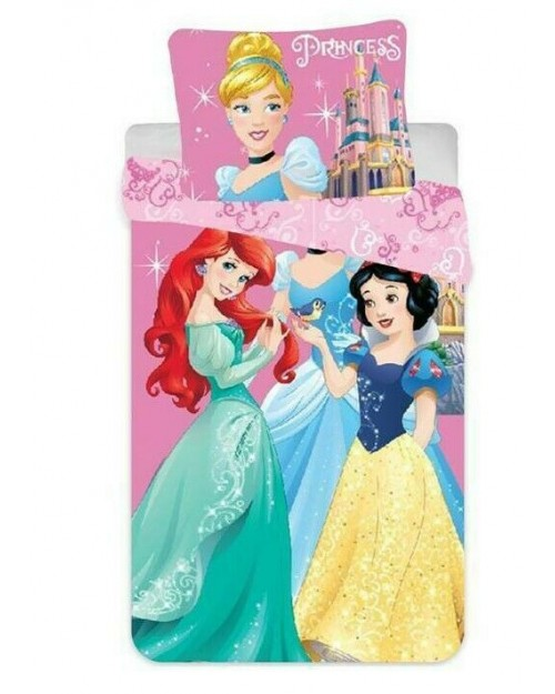 Disney Princess Toddler Bedding 100% Cotton Cot Bed Pink