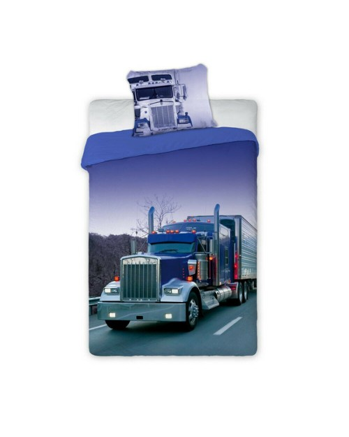 Truck vehicle Single bed cover bedding 100% Cotton Purple