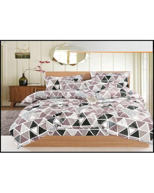 Grey triangle design Bedding set Single duvet cover Pillow Case Bed set