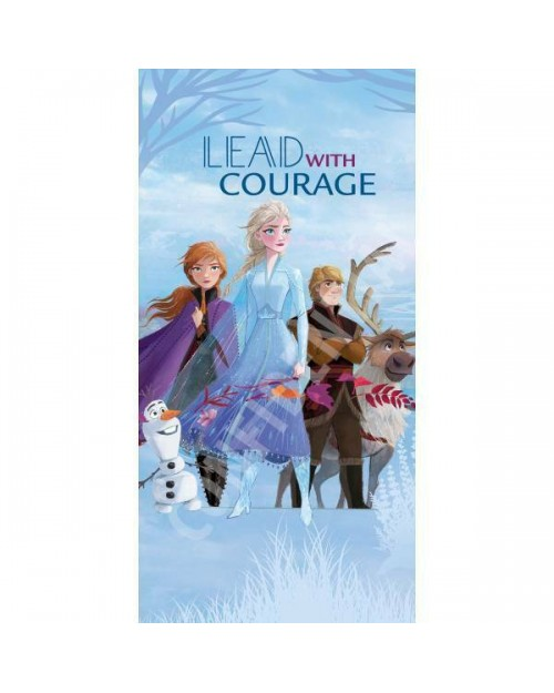 Frozen 2 Disney Beach Towel Lead with Courage Elsa Anna Olaf