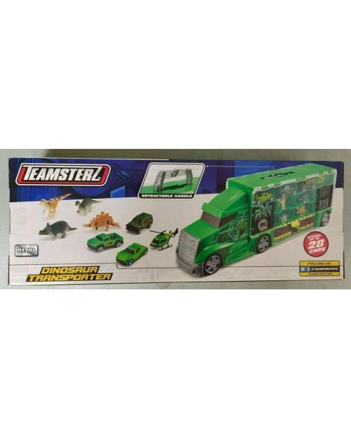 Dinosaur Transporter Truck Teamsterz car & Dino Carrier 4 dinosaurs + 4 vehicles