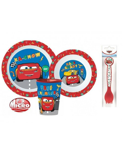 DISNEY CARS CHILDRENS KIDS TODDLERS 5 PC DINNER BREAKFAST SET PLATE BOWL CUP SP