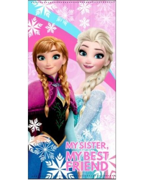 Frozen Elsa & Anna Rainbow Beach Towel