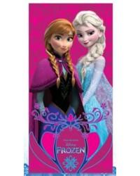Frozen Elsa & Anna Pink Beach Towel